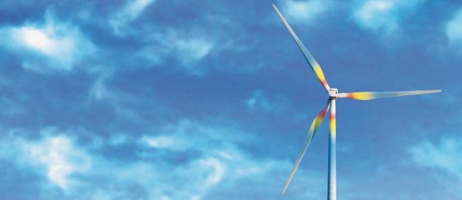 Aerogenerador. Uno de los métodos de producción de energía verde de Som Energía